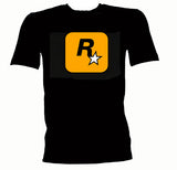Rockstar games Logo T Shirt tee Grand theft auto