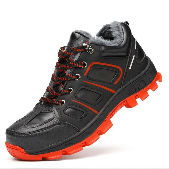 Winter Safety Shoes Waterproof Boots Outdoor Warm