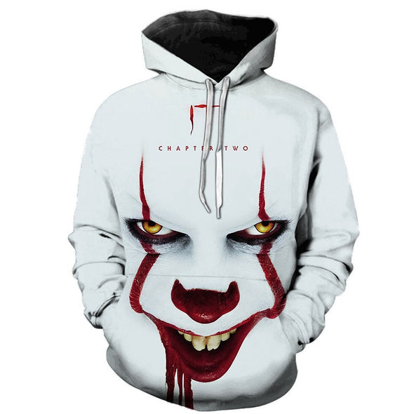 Movie Joker 3D Hoodie Sweatshirt Men's Women's Freddie Jason Movie Pullover Top Hip Hop Casual Oversized Ho