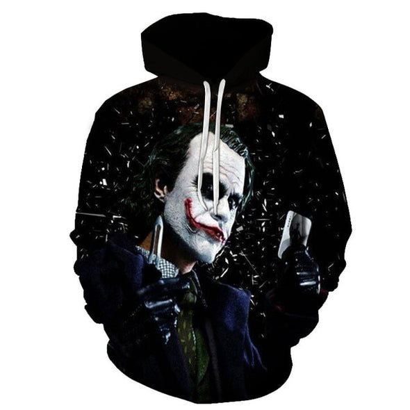 Horror film children's drama character Chucky 3D hoodie men and women clown streetwear hooded