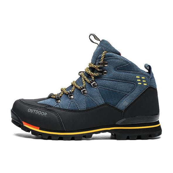 High Winter Suede Hiking Boots Rubber Combat Ankle Work Safety Shoes