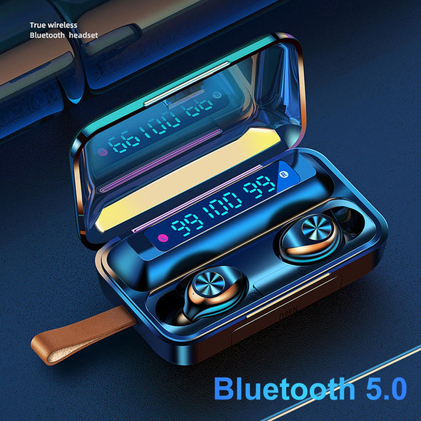 5.0 Waterproof Bluetooth Smart Touch 9D Stereo Headset