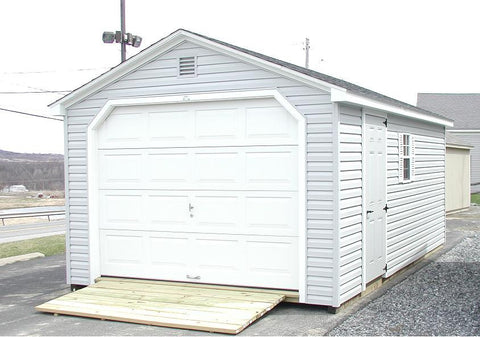 Backyard Vinyl Cottage Garage