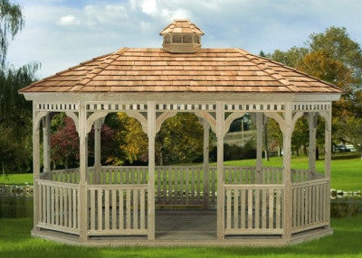 Pressure Treated Regency Oval Gazebo
