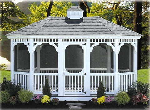Vinyl Regency Oval Gazebo