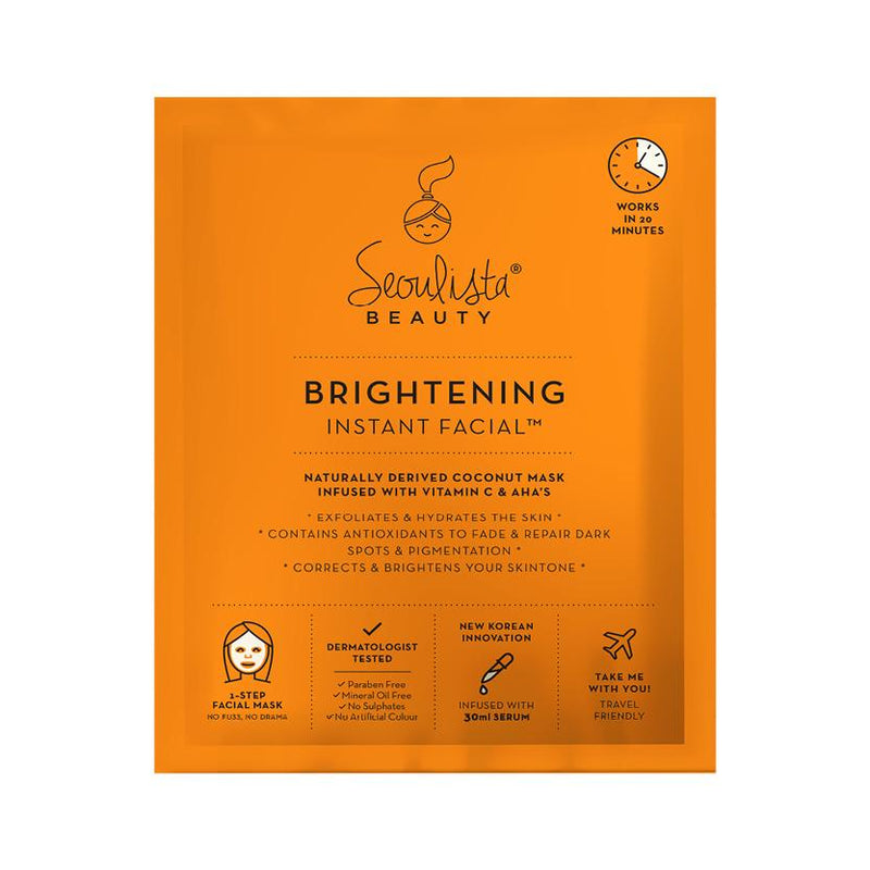 Seoulista Beauty Brightening Instant Facial Sheet Mask