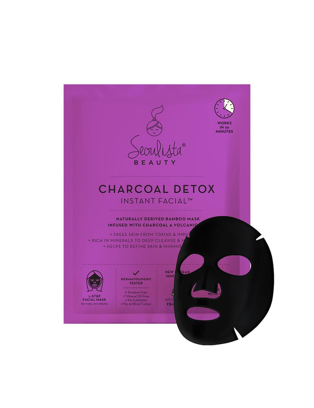 Seoulista Beauty Charcoal Detox Instant Facial Sheet Mask