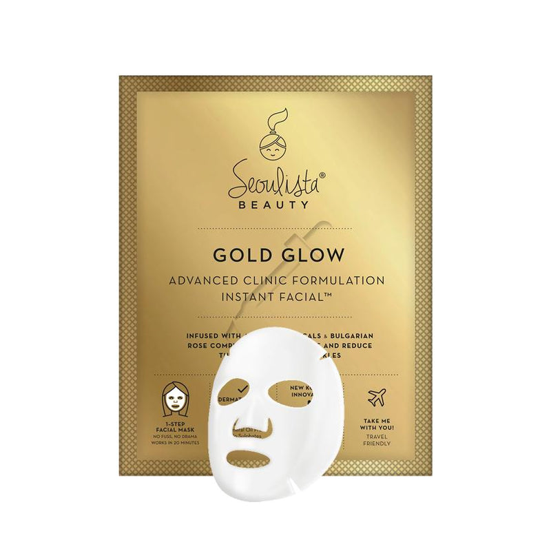 Seoulista Beauty Gold Glow Instant Facial Sheet Mask