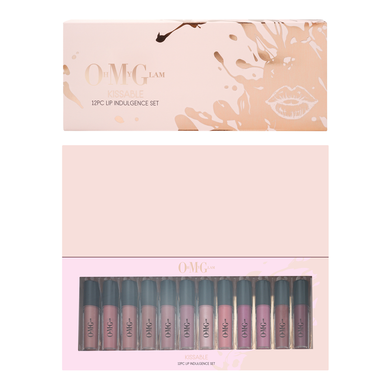 Oh My Glam Kissable 12 Piece Lip Indulgent Set