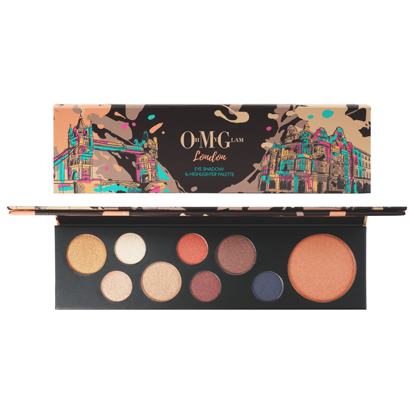 Oh My Glam London Eyeshadow & Highlighter Palette
