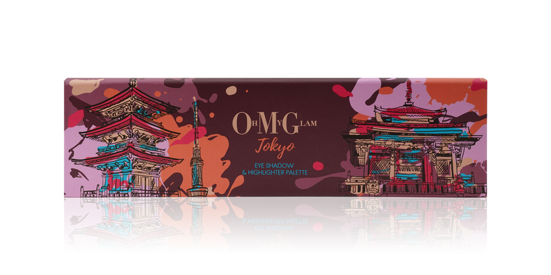 Oh My Glam Tokyo Eyeshadow & Highlighter Palette
