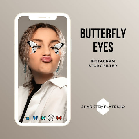 Butterfly Eyes Story Filter (with 5 butterfly colors)
