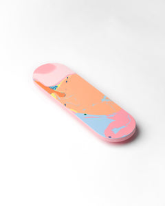 Halfpipe door push plate  - pink base