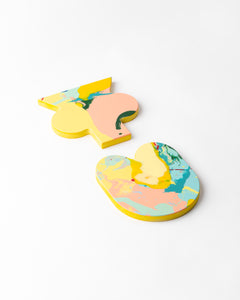 Squidge & Squish coasters - yellow base