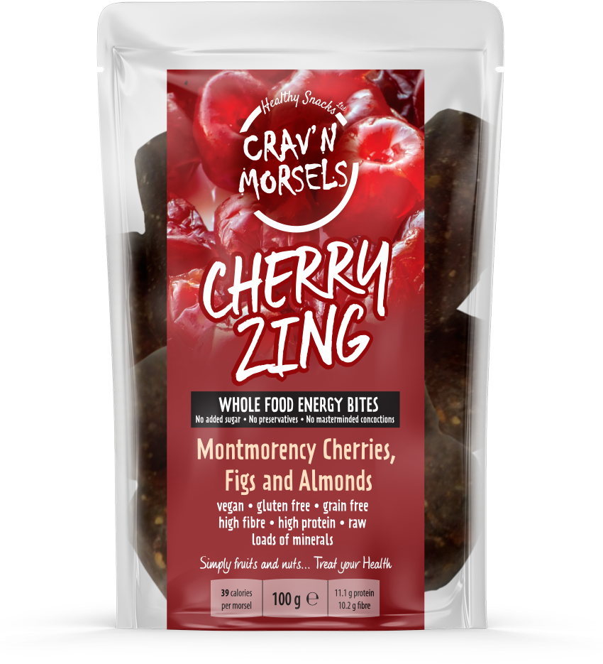 CHERRY ZING - Cherry Energy Bites 100g - Healthy Snacks Ltd