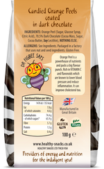 Candied Orange Peels covered in 70% Belgian Dark Chocolate 100g - Healthy Snacks Ltd