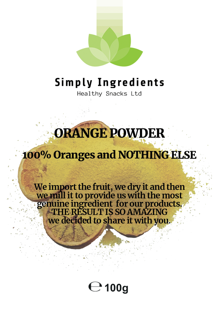 Orange Powder 100g - Healthy Snacks Ltd