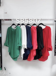 BOW SLEEVE 3/4 SLEEVE TOP