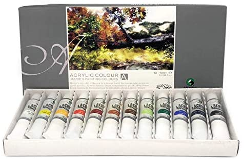 Maries Acrylic Color 12 Colors tubes set