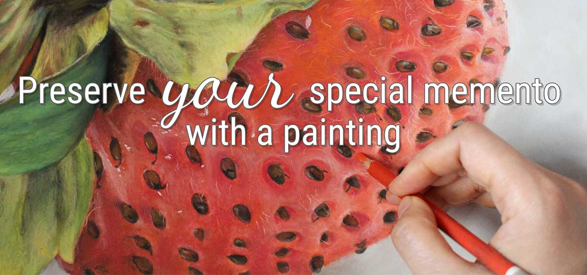 Preserve your special memento with a painting.