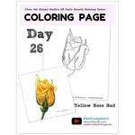 Load image into Gallery viewer, Yellow Rose Bud Coloring Page