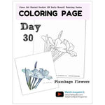 Load image into Gallery viewer, Plumbago Flowers Coloring Page