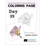 Load image into Gallery viewer, Spring Flower Coloring Page