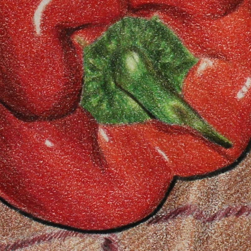 Red and Green Peppers Original Painting