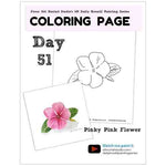 Load image into Gallery viewer, Pinky Pink Flower Coloring Page