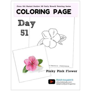 Pinky Pink Flower Coloring Page