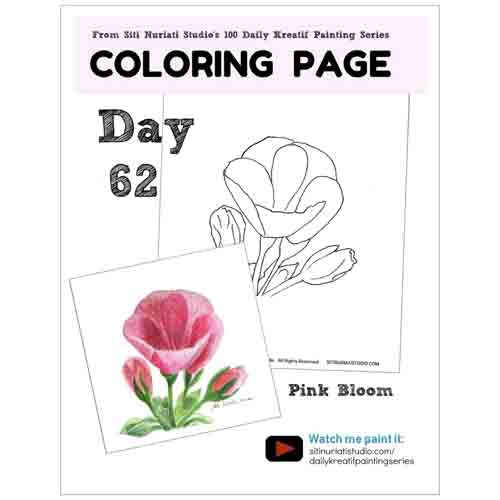 Pink Bloom Coloring Page