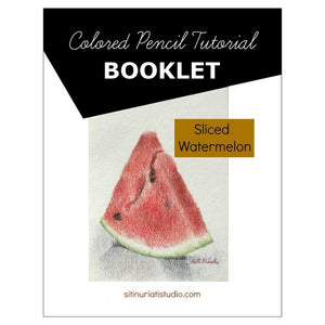 Sliced Watermelon Colored Pencil Tutorial Booklet