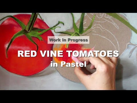 Red Vine Tomatoes Original Painting