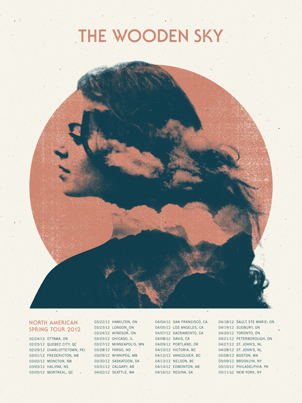Wooden Sky Tour Poster