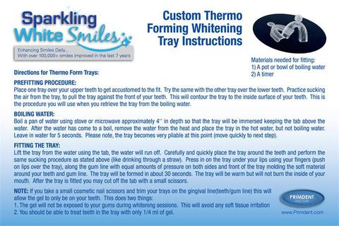 Set of 2 Custom Thermo Forming Teeth Whitening Trays