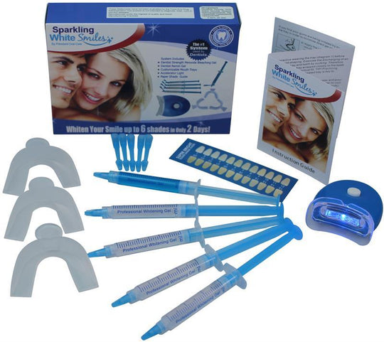 Professional At Home Teeth Whitening System by Sparkling White Smiles, Whitens & Brightens Up To 6 Shades in 2 Days, Effective Results, Easy to Use