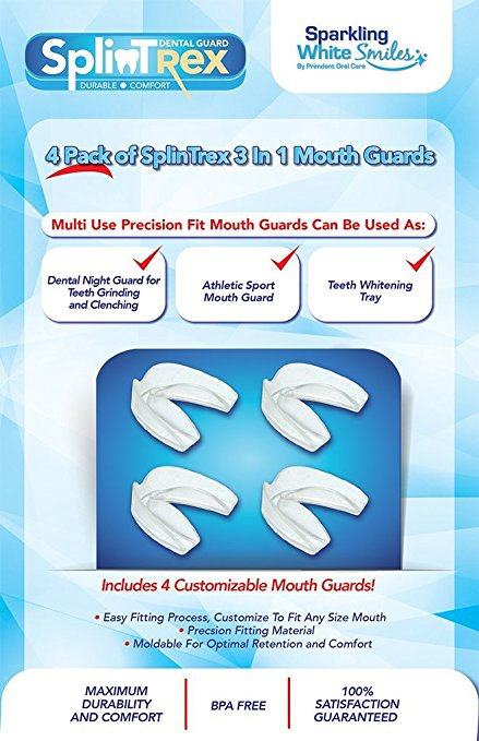 SPLINTREX MULTI USE TEETH MOUTH GUARDS - 4 PACK - BPA FREE