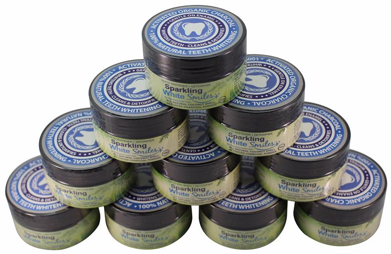 ACTIVATED CHARCOAL POWDER FOR NATURAL TEETH WHITENING, CLEANING AND DETOXIFYING - COCONUT SHELL ACTIVATED CHARCOAL - NATURAL TEETH WHITENER - FOR A HE