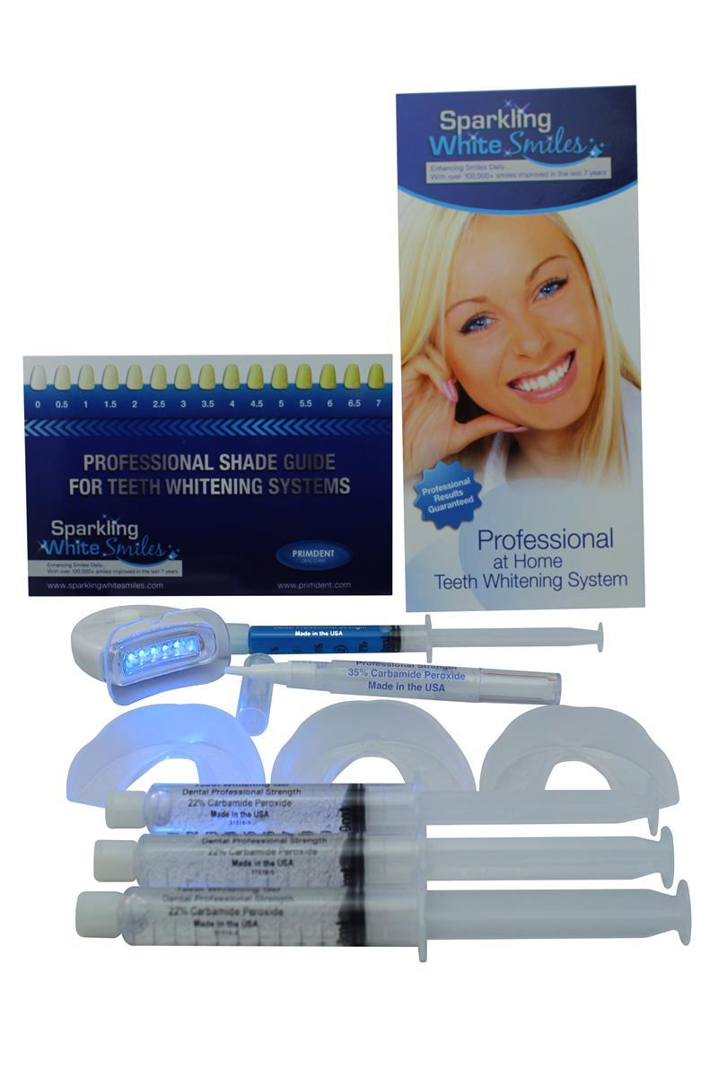 AT HOME COMPLETE TEETH WHITENING SYSTEM