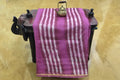 Chanderi Saree Dark Mauve, Pink & off white