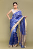 Sky Blue Handloom Silk Saree with Silver Motifs