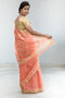 Chanderi Silk in Coral