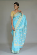 Mercerized Silk Saree in Electric Blue