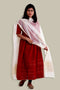 Chanderi Tussar Silk Dupatta in Off white