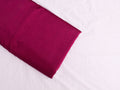 Handwoven Fuchsia Pink Chanderi silk fabric with gold border