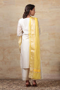 Chanderi Mercerized Silk Dupatta in Mustard