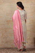 Chanderi Mercerized Silk Dupatta in Pink