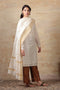 Chanderi Mercerized Silk Dupatta in Off white