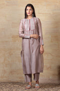 Chanderi Pant with Pockets in Mauve