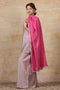 Cotton Dupatta in Pink with gota work